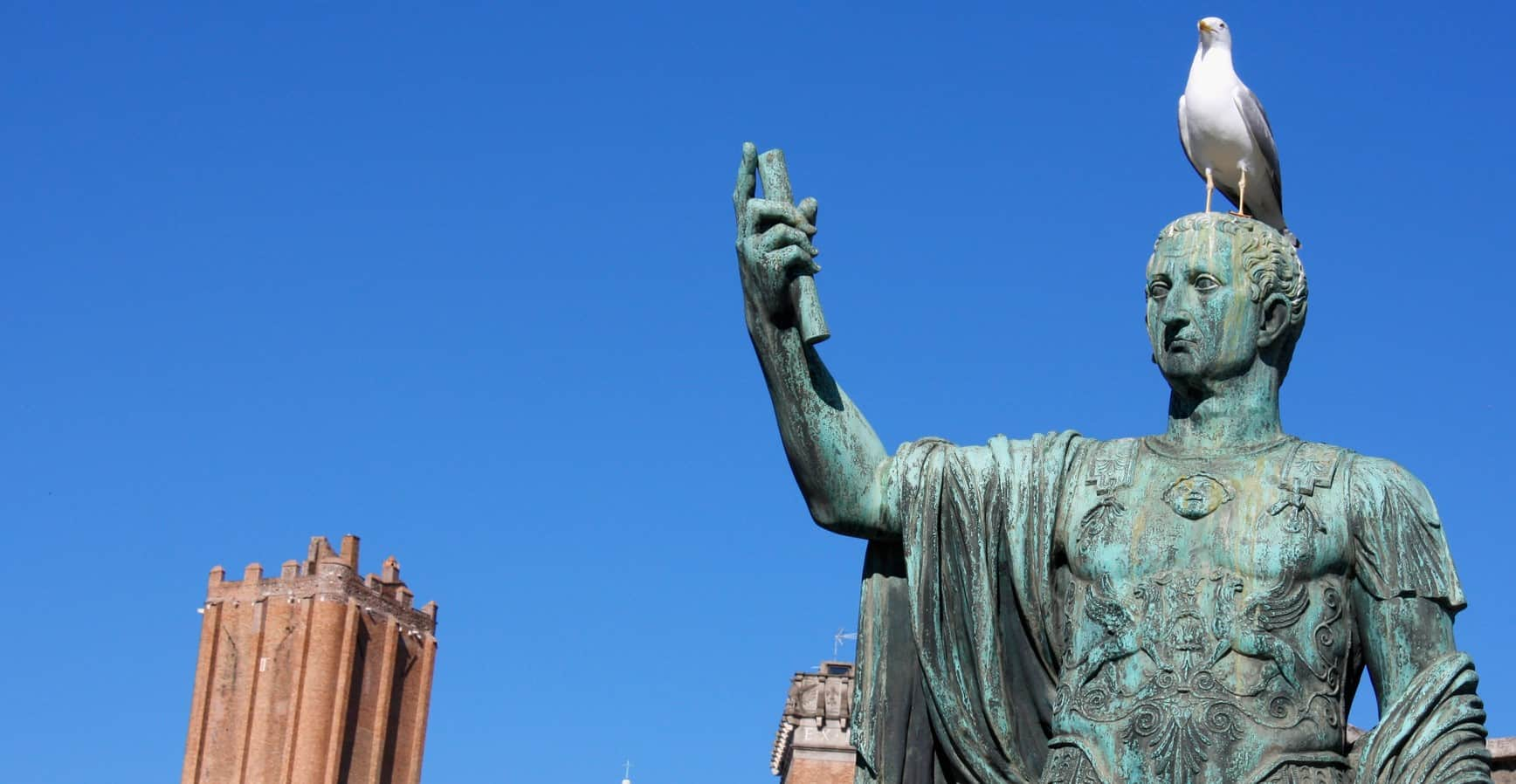 Statue of Nero with a Bird on his Head