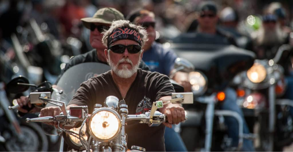Motorcyclists Riding through Sturgis, SD