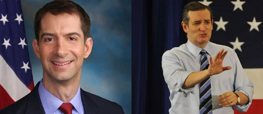 Tom Cotton and Ted Cruz