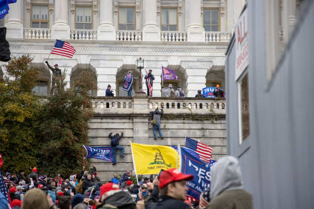 Protestors descend upon Capitol Hill to contest the certification of the Presidential Election
