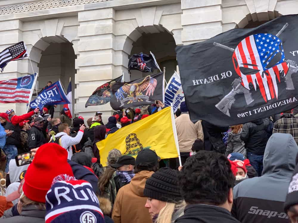 Trump supporters rioting at the US Capitol