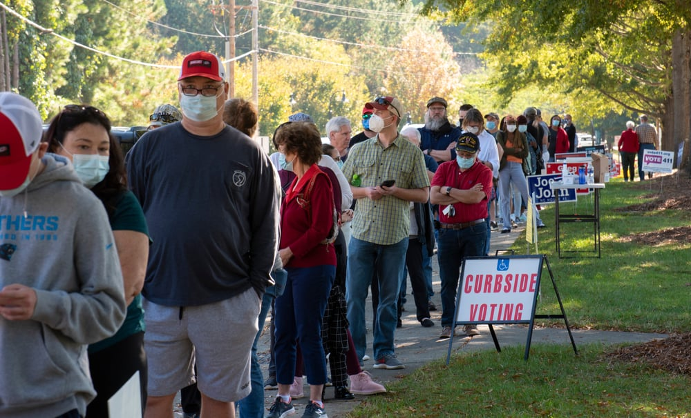 North Carolina Voters in Line