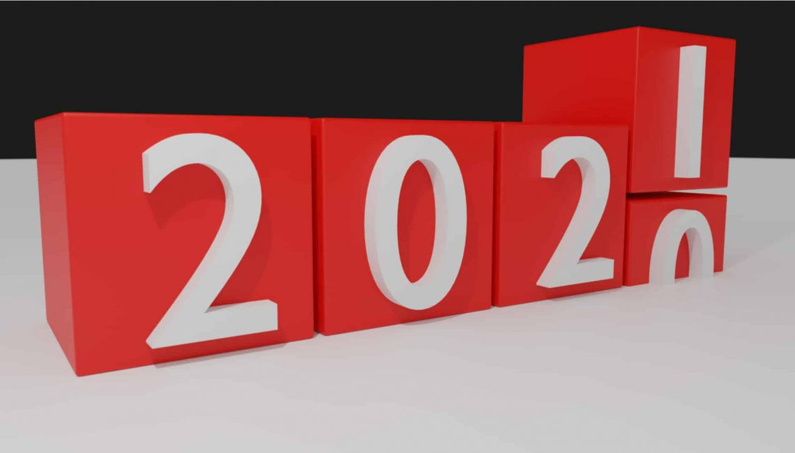 Blocks implying 2020 turning to 2021