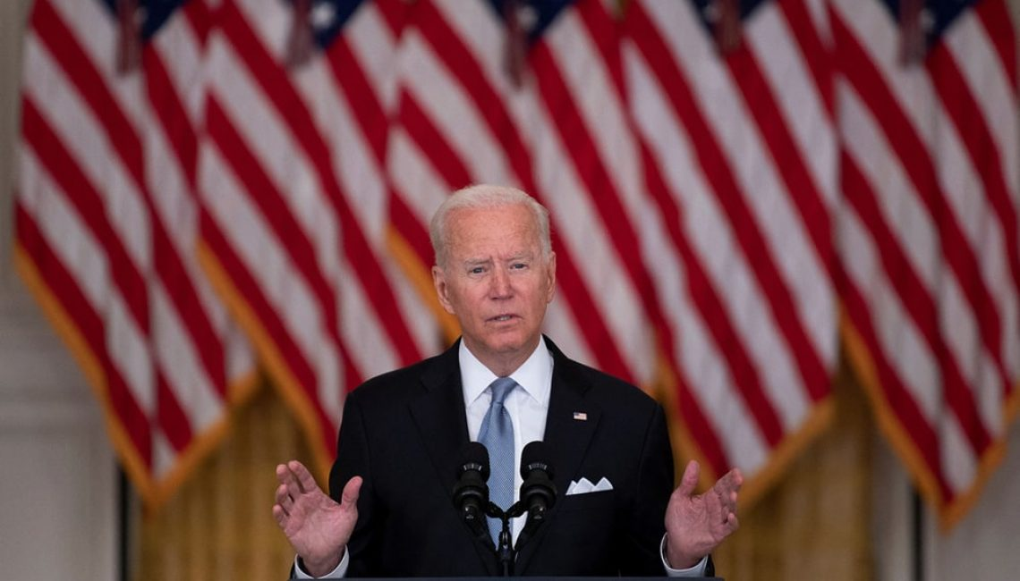 Joe Biden discussing Afghanistan