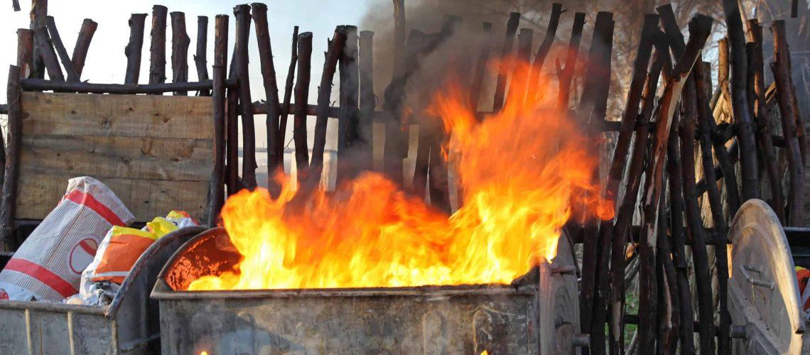 Burning Dumpster