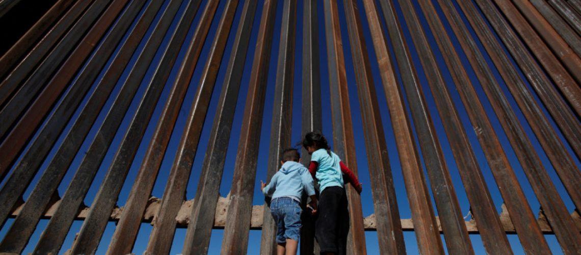 Man standing at border