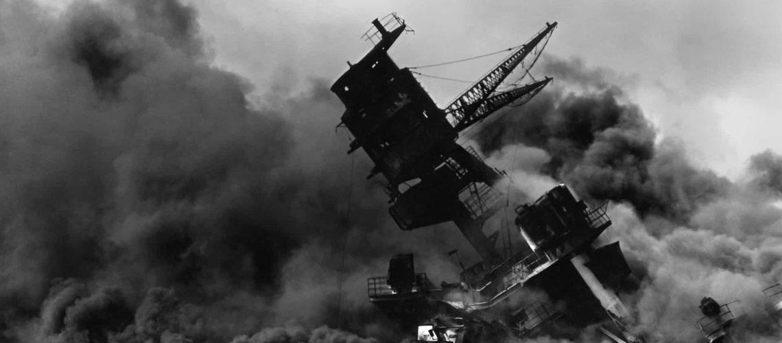 Ship Wrecked at Pearl Harbor